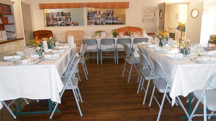 De très belles tables pour nos convives