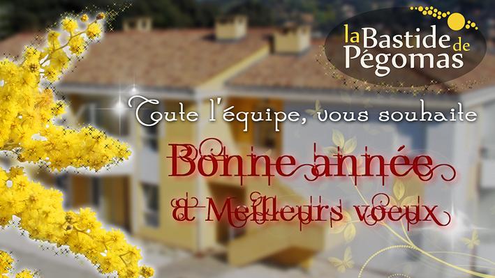 L'équipe de la Bastide de Pégomas, vous souhaite une Bonne année et ses meilleurs voeux