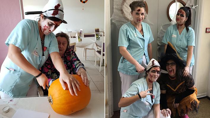 La fête de Halloween par nos résidents de la Bastide de Pégomas