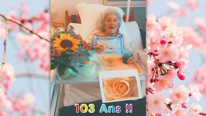 """Anniversaire de Madame Lespineux """"103 ans"""" à la bastide de Pégomas"""