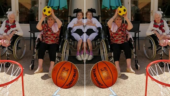 Basketball pour nos résidents à la Bastide de Pégomas