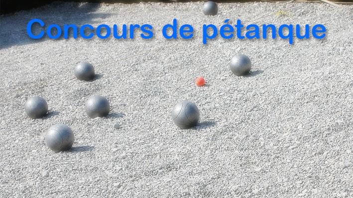 Concours de pétanque à la Bastide de Pégomas