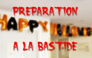 Préparation d'halloween et confection de ballon à la Bastide de Pégomas