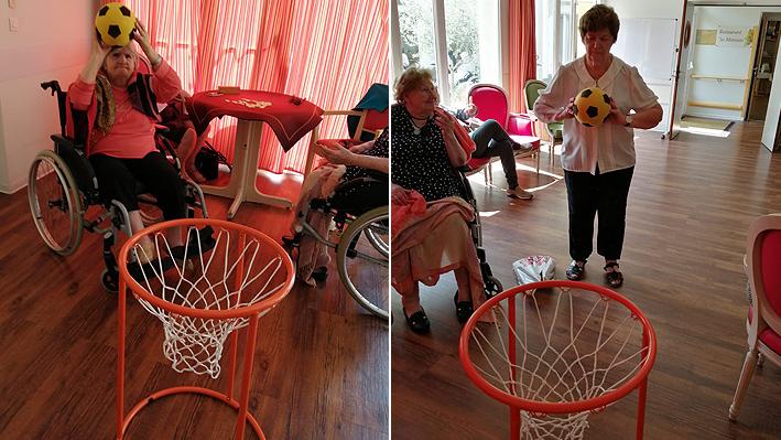 Une partie de basket pour nos résidents de la Bastide