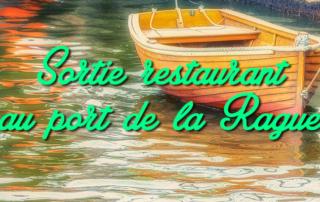 Sortie au restaurant au port de la Rague à Mandelieu pour nos résidents de la Bastide de Pégomas