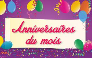 Les anniversaires du mois d'août pour nos résidents de la Bastide de Pégomas