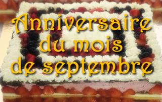 Les anniversaires du mois de septembre des résidents de la Bastide de Pégomas