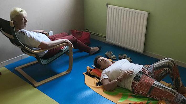 Atelier relaxation pour nos résidents de la Bastide de Pégomas