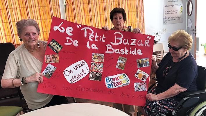 Finition de l'affiche pour l'épicerie de la Bastide de pégomas