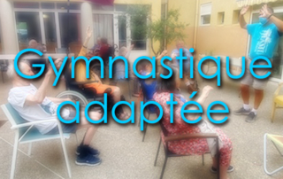 Gymnastique adaptée spécifique au bâtiment B pour nos résidents de la Bastide