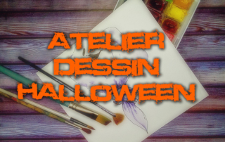 Atelier de dessins d'halloween par nos résidents de la Bastide de Pégomas
