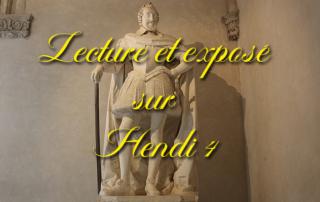Lecture et exposé sur Henri IV pour nos résidents