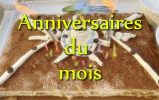 Les anniversaires du mois d'octobre à la Bastide de Pégomas