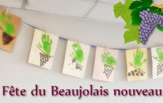 Préparation de la fête du beaujolais nouveau à la Bastide de Pégomas